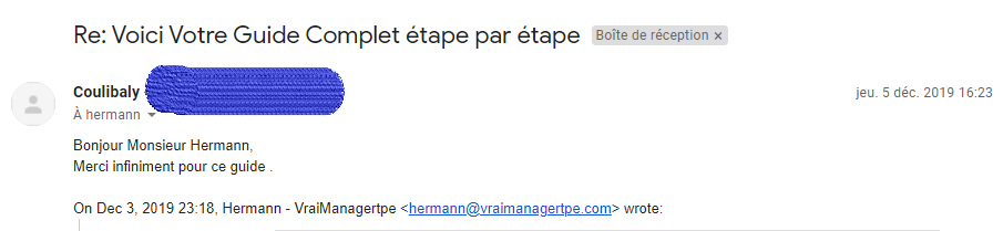Témoignage des lecteurs de Vraimanagertpe